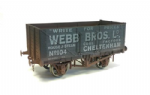 Dapol 7F-071-027W 7 Plank Wagon Webb Bros Ltd Weathered
